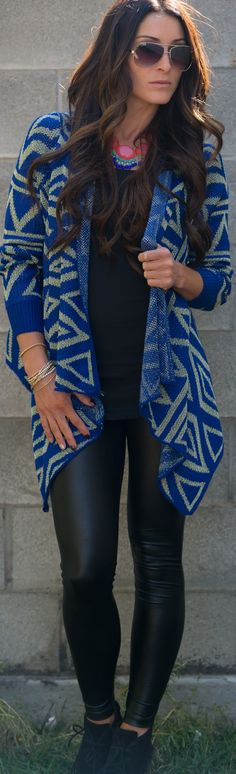 Aztec Sparkle Cardigan | SexyModest Boutique