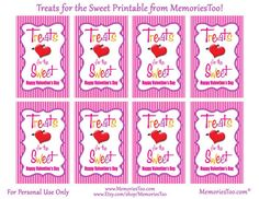 Free printables for Valentines Conversation Heart Candy.