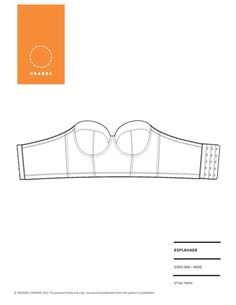 1d9ef7596b Instant Download PDF lingerie sewing pattern for a strapless long line  underwire bra - Esplanade Bra