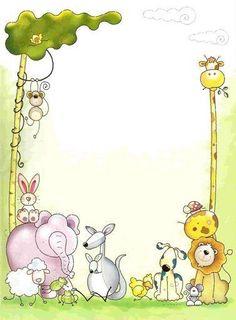 Maestros de Corazón: Notas para enviar a casa (En blanco para editar e imprimir) Borders For Paper, Borders And Frames, Paper Art, Paper Crafts, Baby Shower Clipart, Cute Borders, School Frame, Cute Frames, Clip Art