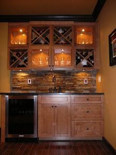Basement wet bar idea-