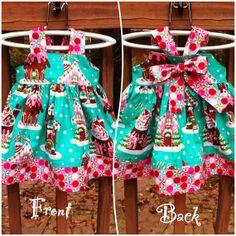 Girls Christmas Dress Michael Miller by MonkeyStyleBoutique, $38.00