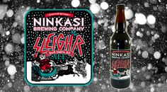 Ninkasi Brewery's holiday beer Sleigh'r (inspired by the band Slayer) Beer Brewing, Brewing Company, Black Magic, Craft Beer, Brewery, Ephemera, Drinking, Rocks, German