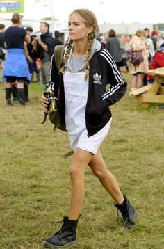 Cressida Bonas at Glastonbury But I don't like her adidas jacket.