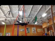 Aerial Silks: Ninja Toe Climb and Other Fun Things, with 5 1/2 month bump! - YouTube