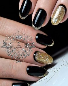 Matte Black with Glitter. Matte nail colors are trending these days and when it comes in black- elegance at its peak. So, the next amazing option that you can have is the matte black nail color with glittery black and grey tweak.