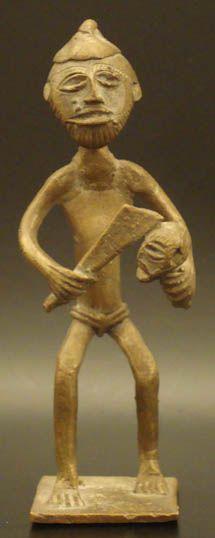 Brass African Ashanti Executioner #564   Goldweight Figures   Metal — Deco Art Africa - Decorative African Art - Ethnic Tribal Art - Art Deco