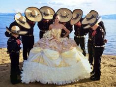 Quinceanera dress - The greatest element of the quinceanera for a girl turning fifteen would be the dress! The perfect quinceanera dress makes the birthday girl feel like royalty. Mariachi Quinceanera Dress, Quinceanera Dances, Mexican Quinceanera Dresses, Quinceanera Party, Quince Dresses Mexican, Vestido Charro, Chambelanes, Quinceanera Photography, Quince Ideas
