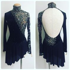 Ice Dressses Custom Women Competition Skating Wear Black - You are in the right place about Figure Skating Competition Dresses, Figure Skating Outfits, Figure Skating Costumes, Figure Skating Dresses, Latin Dance Dresses, Ballroom Dance Dresses, Salsa Dress, Skate Wear, Roller Derby