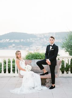 Fabulous wedding at Villa Ephrussi de Rothschild in French Riviera Groom Attire, Wedding Bridesmaid Dresses, French Riviera, Wedding Portraits, Villa, Poses, Bridal, Groom Outfit, Bridesmaid Dresses