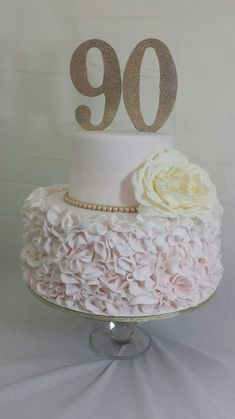 Tonettes Cakes - Fresno, CA, United States. 90th birthday cake
