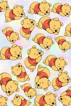 Image via We Heart It https://weheartit.com/entry/132822432/via/24963526 #baby #background #bear #cute #pooh #wallpaper