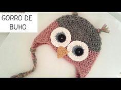 Gorro Búho a Crochet, Vídeo Tutorial - YouTube