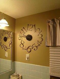 9 Best Bathroom Clocks images | Bathroom clocks, Big wall ...