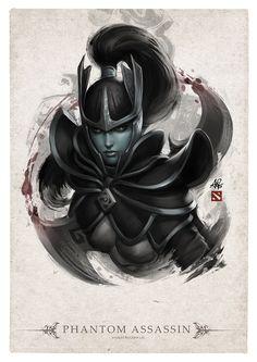 Phantom Assassin Portrait by Artgerm.deviantart.com on @deviantART