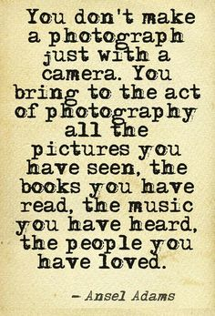 Ansel Adams quote on #photography