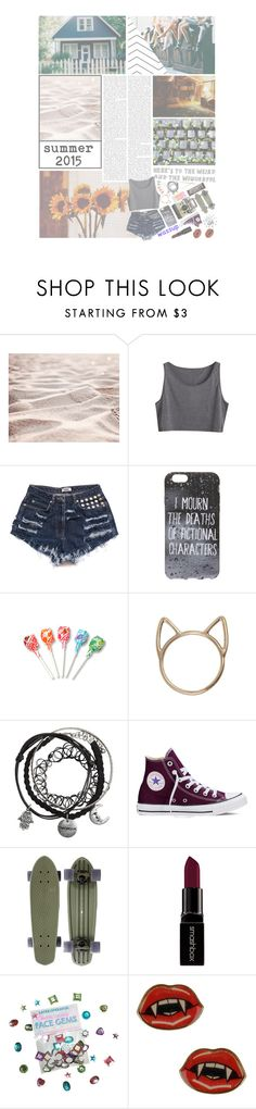 """""""— take me home"""" by autumn-alien ❤ liked on Polyvore featuring Converse, Hershey's, Smashbox, runaway, aurora and allmydemonsgreetingmeasafriend"""