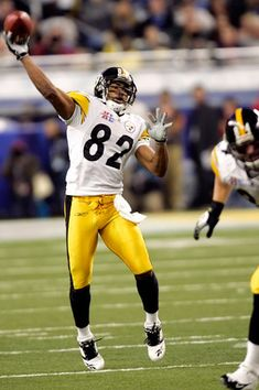 Antwan Randle El # 82 Pittsburgh Steelers WR/PR (he threw that beautiful touchdown pass to Hines Ward to clinch Super Bowl XL against Seattle in Pitsburgh Steelers, Pittsburgh Steelers Players, Pittsburgh Sports, Football Players, Steelers Stuff, American Football League, National Football League, Football Usa, College Football
