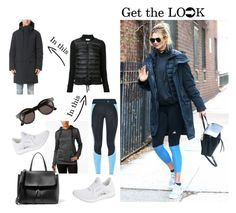 """""""Karlie Kloss~ Get the Look"""" by guest114 ❤ liked on Polyvore featuring Sunday Somewhere, ISAORA, adidas, Mansur Gavriel and Moncler"""