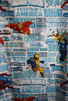 Marvel Hero Spider Man Captain America Thor Twin Bedding Flat Sheet Bath  Linens e0515a99a466c