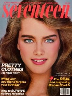 Kicking it old school with this #BrookeShields Cover of @Seventeen Magazine from 1972