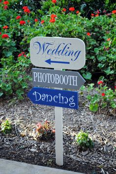 Custom Wedding Direction Sign by SignsToLiveBy on Etsy, $85.00