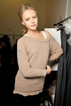 Frida Gustavsson Backstage. I don't know who she is but I think she is so beautiful!!