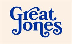 Pentagram Brands New Cookware Startup, 'Great Jones' - Pentagram Brands New Cookware Startup, 'Great Jones' – Logo Designer - Bold Typography, Bold Logo, Typo Logo, Creative Typography, Typography Letters, Typography Design, Branding Design, Logo Type Design, Typography Quotes