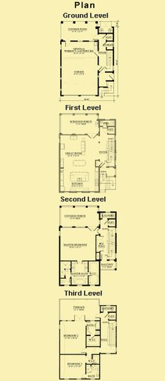 3 story narrow beach house plan httpwwwtheplancollectioncom