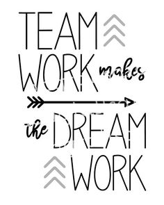 Your place to buy and sell all things handmade Teamwork Makes the Dream Work – Printable Art – Inspirational Quote – Boho Arrows – Apartment – Offi Teamwork Quotes Motivational, Leadership Quotes, Success Quotes, Positive Quotes, Inspirational Quotes, Team Quotes Teamwork, Sport Quotes, Motivational Posters, Motivational Thoughts