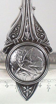 Detail of Whiting 'Japanese' sterling basket – c1874 (spencermarks)