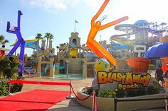 AMUSEMENT ATTRACTION! Blastaway Beach Tour & Slides POV - Wet n Wild Orlando - Largest Family Play area in Florida | Jerry's Hollywoodland Amusement And Trailer Park
