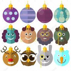 Vector funny set of toys for fit-tree on my #shutterstock #portfolio Do you like it ?😂👍#christmas #toys #holiday #balls #set #vector #cartoon #owl #bunny #snowman #kodiartdesign #mans #deer #шаттерсток  http://shutterstock.com/g/Dmitriy Kondratyuk