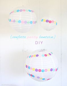 Make these fun Confetti Party Lanterns next time you throw a bash for your little one! Easy to make and you can coordinate the tissue paper colors with the party theme. From @Laurel {A Bubbly Life}.