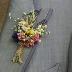Festival Meadow Buttonhole Set Of Four