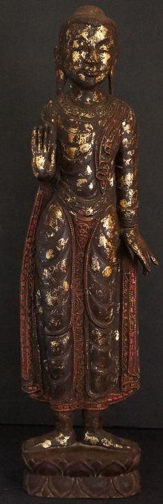 Shan Standing Buddha Statue Abaya Mudra