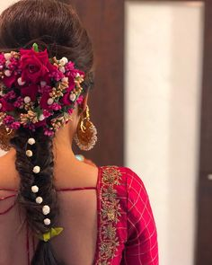 Soundarya Rajnikanth's Bridal Looks Are Perfect For Inspiring South Indian & Fusion Brides! Soundarya Rajnikanth's Bridal Looks Are Perfect For Inspiring South Indian & Fusion Brides! Open Hairstyles, Evening Hairstyles, Indian Bridal Hairstyles, Wedding Hairstyles For Long Hair, Bride Hairstyles, Engagement Hairstyles, Saree Hairstyles, Hairstyles Haircuts, Hairstyle Ideas