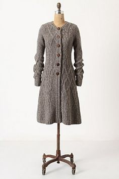 Coiled Cable Knitted Coat