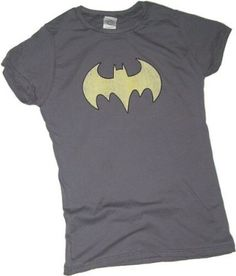 Batgirl Logo Crop Sleeve Fitted Juniors T-Shirt $22.95