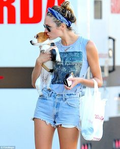 Heavy metal babe! Candice Swanepoel rocks out Iron Maiden T-shirt and displays…