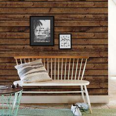 Brown Wood Wallpaper - Peel and Stick, Wood Wall Paneling, Wood Wall Art Look Wallpaper, Fabric Wallpaper, Peel And Stick Wallpaper, Wood Plank Wallpaper, Bedroom Wallpaper, Wallpaper Size, Stick On Wood Wall, Peel And Stick Wood, Wood Panel Walls