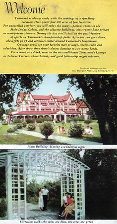 Pamphlet depicting attractions of the Tamarack Resort.