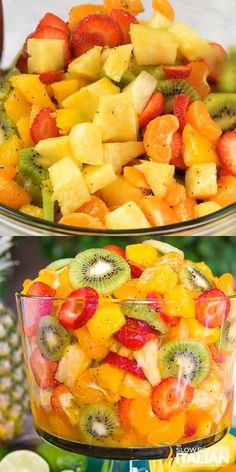 Best Ever Tropical Fruit Salad - Best Ever Tropical Fruit Salad is the only recipe you'll ever need. My entire picky family devour - Tropical Fruit Salad, Hawaiian Fruit Salad, Tropical Party Foods, Dressing For Fruit Salad, Healthy Snacks, Healthy Recipes, Fruit Snacks, Most Healthy Fruits, Summer Snack Recipes