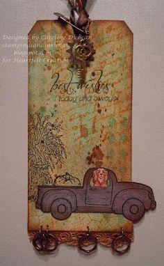 Designed by Caroline Duncan ~ Stampings and Inklings: Autumn Tag ~ stampingsandinklings.blogspot.com Heartfelt Creations