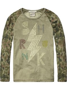 Raglan Rocker T-Shirt | Jersey l/s tee's & tops | Boy's Clothing at Scotch & Soda