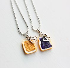 Peanut butter and jelly friendship necklace