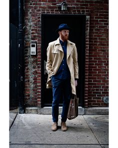 New York Street Style Photos by Ben Ferrari - Men's Street Style: Style: GQ  // simple but so well put together.
