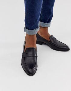 Vagabond black leather loafers   ASOS