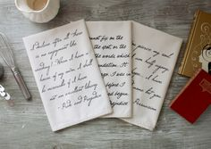 Jane Austen Quote Tea Towel Gift Set  Pride and by ThornfieldHall