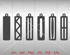 Rounded Rectangle Earring SVG, Long Pendant svg, Tear drop Vector DXF, Leather Earring Jewelry Laser Cut Template Commercial Use